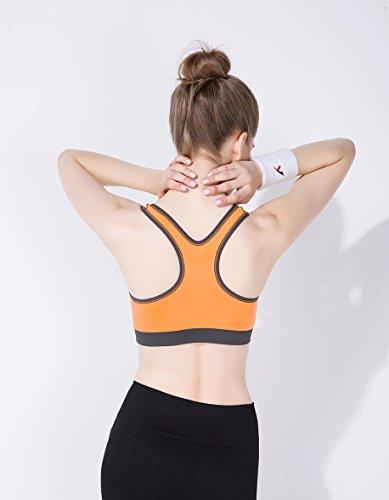 Molly Tirette De Yoga Pour Femmes Push Up Entraînement Sportif Bra Orange