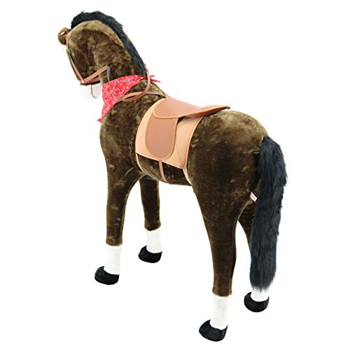Sweety Toys 11525 GIANT XXL Riesen Pferd Plüschpferd Chocolate Stehpferd - 3