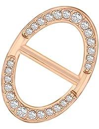 IPOTCH Anneau d Écharpe Boucle Cristale Scarf Clip en Laiton Antique Foulard 866f8ad80b4