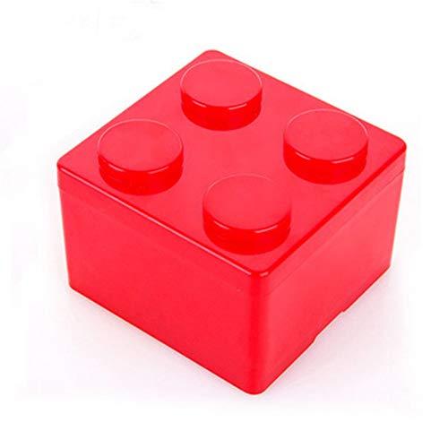 A1935 Caja de almacenamiento apilable de forma de bloque de construcción Caja de almacenamiento de plástico de escritorio Caja de almacenamiento de escritorio de oficina