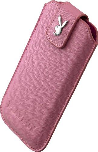 Playboy 13633 Cross Leder Case für Apple iPhone 4/4S/5/5C/5S Größe M pink