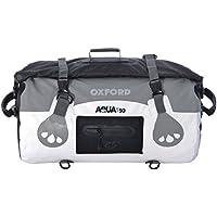 Oxford Motocicleta Aqua T50Impermeable Moto Equipaje 50L de Capacidad, Blanco/Gris