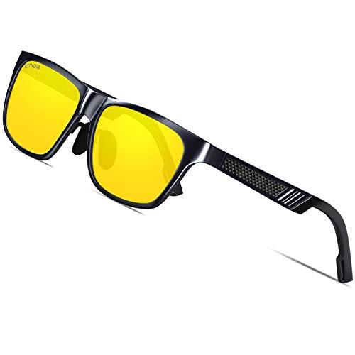 KITHDIA Männer Frauen Aluminium Polarisierte Herren Sonnenbrillen Spiegel Sonnenbrillen (Night)