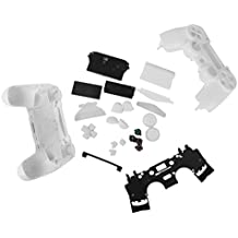 Replacement Full Housing Shell Case Button Kit for PlayStation4 PS4 Wireless Controller White [Importación Inglesa]