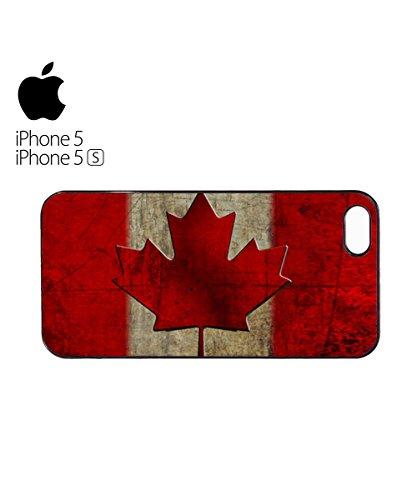 Canada Flag Vintage Retro Canadian Mobile Phone Case Cover iPhone 6 Plus + Black Blanc