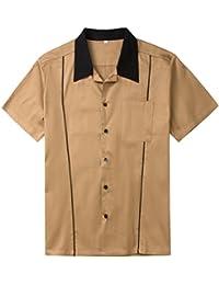 685dcbb7ab Candow Look Plus Size Uomo Camicie Cotton Button Down Camp Shirt