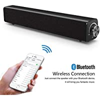 Barra de sonido, Barra de sonido de TV por cable e inalámbrica, Altavoz Bluetooth 20W Altavoz estéreo Altavoz portátil de TV Barra de sonido envolvente para PC, Celular, TV, Computadora