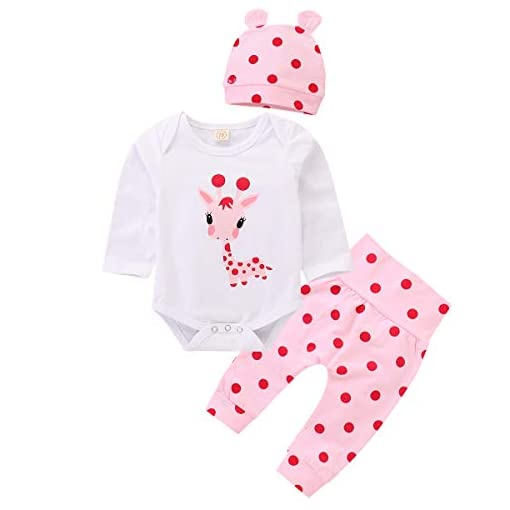 puseky-Newborn-Baby-Girl-Long-Sleeve-Cartoon-Giraffe-RomperPolka-Dot-PantHat-Outfits