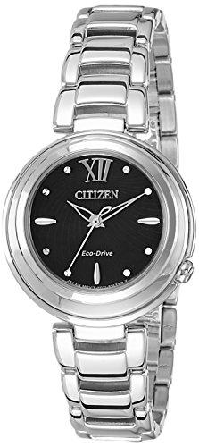 Citizen donna-orologio da polso al quarzo in acciaio inox em0331-52e