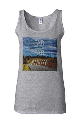 Far Far Away Nature Holiday Novelty White Femme Women Tricot de Corps Tank Top Vest Gris Sportif