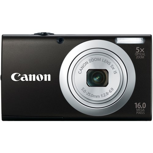 Canon PowerShot A2400 IS Point & Shoot Camera (Black)