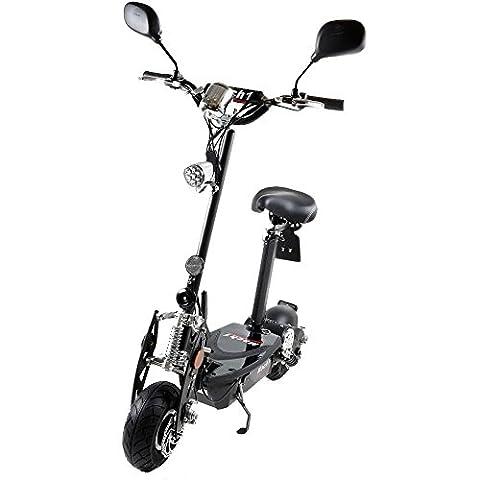 MACH1® Elektro E-Scooter mit EU Strassenzulassung 20Km/h Mofa Modell-2 EEC 36V/500W (Es besteht keine Helmpflicht für diesen Scooter) (2x 36V-14Ah Original Akkus)