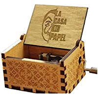 The Paper House La Casa De Papel Caja De Música Vintage Tallada Bella Ciao Caja De Música Caja De Manivela De Madera Caja Musical Toy