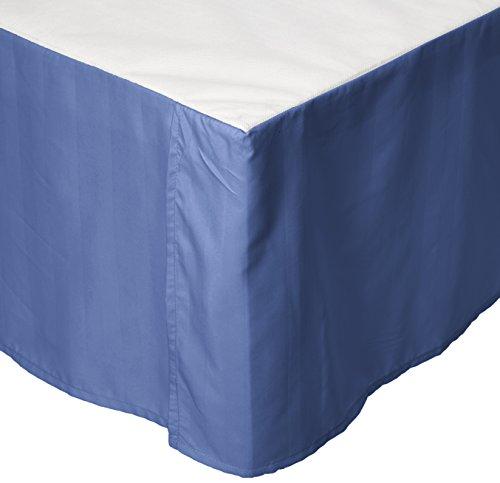 knitterfreie–Ägyptische Qualität Streifen Bett Rock–plissiert Tailored 35,6cm Drop–alle Größen und Farben -