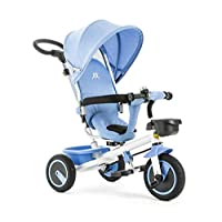 All Road 4 in1 Trike in BABY BLUE Convert Push Handle Pedal Kids Tricycle CE **Blue (Turquoise)**