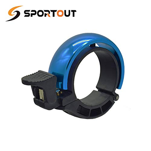 Sportout Aluminiumlegierung Innovative Fahrradklingel Fahrrad Ring mit Lauten Klaren Klaren Kla, für Lenker von 22,2 bis 31,8 mm(Blue) (Blue, 22.2-31.8MM) (Blue(22.2-31.8mm) (Blue, 22.2mm - 31.8mm) -
