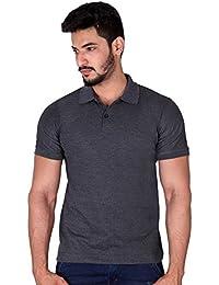 Villain Cool Polo T-Shirt For Men - Regular Fit Casual Polo T-shirt - Grey