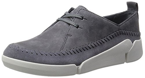 Clarks Tri Angel, Sneakers basses femme Gris (Grey/Blue)