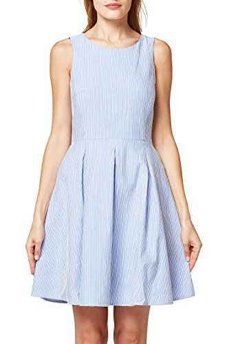 ESPRIT Damen Kleid 058EE1E014, Blau (Grey Blue 420), 40