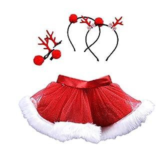Fossen Disfraz Navidad Bebe Niña Fotografia Tutu Falda Corta + Conjunto de Diadema