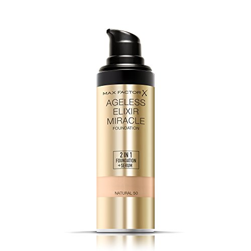 Max Factor Ageless Elixir 2-in-1 Foundation and Serum, SPF 15, 5 Natural