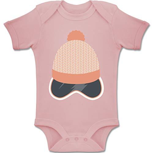 Sport Baby - Ski Snowboard Brille Mütze - 3-6 Monate - Babyrosa - BZ10 - Baby Body Kurzarm Jungen Mädchen