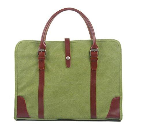 Herren Canvas Tasche Handtasche Aktentasche Casual Business Messenger Bag Umhängetasche GrassGreen