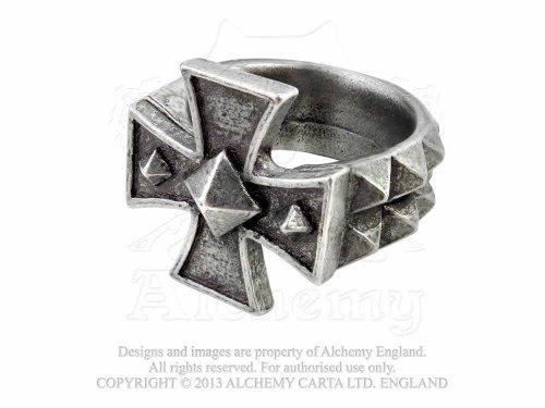 Alchemy Gothic (Metal-Wear) Cross of Iron anello, Peltro, Z1, cod. R196Q