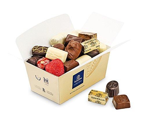 Belgische Leonidas Pralinen in Geschenkbox: Mischung von 35 luxurioesen Pralinen in edler Geschenkverpackung (600g)