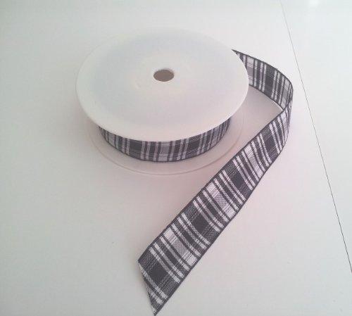 Tartan-Band mit traditionellem Schottenmuster 25mm x 25m , Farbmuster Menzies - Geschenkband Dekoband Hochzeit schleifenband -