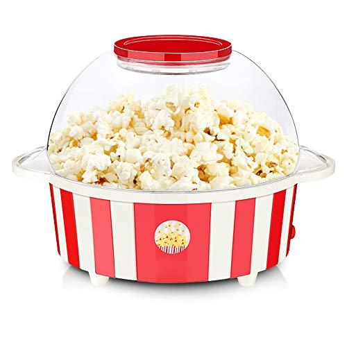 AIQQ Popcornmaschine-Popcorn Maker 850W mit Abnehmbares Heizfläche Antihaftbeschichtet, Antihaftbeschichtung Bietet Große Deckel für Servierschüssel, Bequeme Lagerung