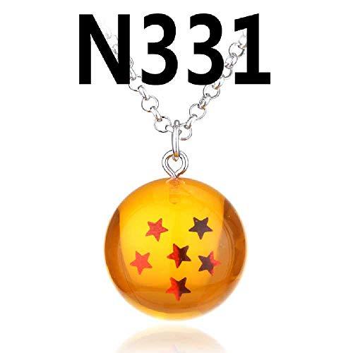 SDFGH 7 Dragonballs, 1-7 Sterne-Halskette, Originelle Anhänger,
