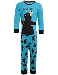 Lazy Shark Winter Wear for Kids / Boys - Blue color - Night wear - Track Suits - Pyjama Tshirt - Warm Cotton Fabric - Cartoon Printed - Full Sleeve - For 1/2/3/4/5/6/7 Year Boys - Track Pant and tshirt.