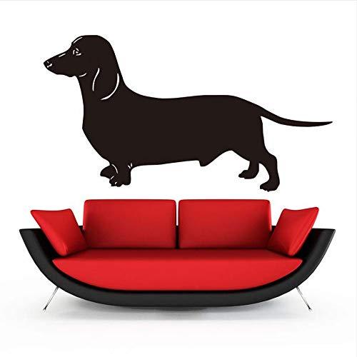 Hwhz 59X31 CmDackel HundWandaufkleberBeliebtesten Tapete Wohnzimmer Vinyl Abnehmbare Tier Wohnkultur