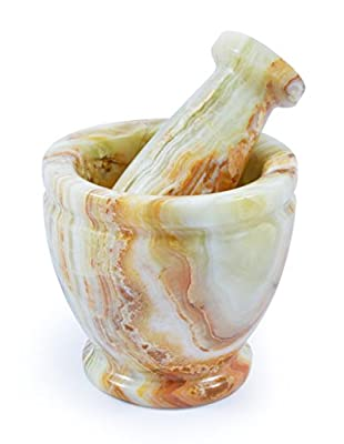 Mini Marble Pestle & Mortar by Fossil Gift Shop