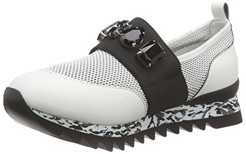 Apepazza Diamond Stretch, Baskets Basses femme Blanc - Weiß (BIANCO)