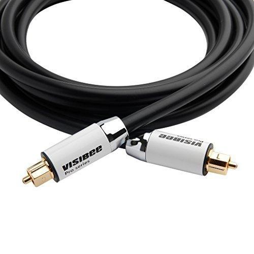 Visibee Audio ottico digitale Toslink, serie Pro-Cavo con alloggiamento in metallo, per PS3/Sky HD/HDTV/Blu-ray/AV Amps
