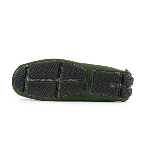 Anguang Uomo Casuale Confortevole Scarpe Mocassino Guida Scarpe Mocassini Verde