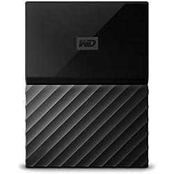 WD My Passport 1TB - Disco duro portátil y software de copia de seguridad automática para PC, Xbox One y PlayStation 4 - negro