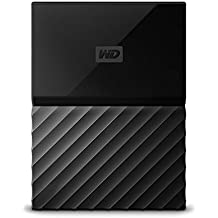 WD My Passport 1TB - Disco duro portátil y software de copia de seguridad automática para PC, Xbox One y PlayStation 4 - negro