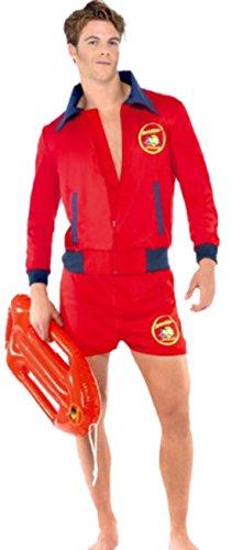 Zauberclown - Herren Karnevalskomplettkostüm Baywatch Lifeguard, M, (Kostüm Lifeguard Halloween Frauen)