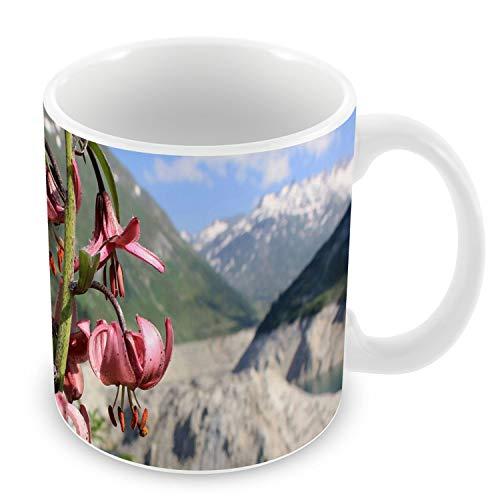Mug Céramique Tasse Paysage Fleurs de Montagnes Nature