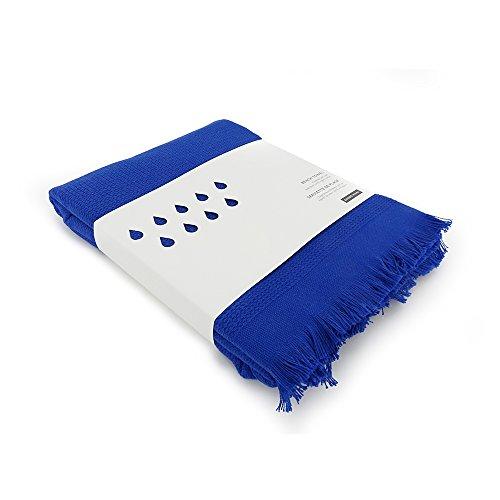 EKOBO Home 69408 Strandtuch, Bio Baumwolle, Royal Blau, 100 x 200 cm