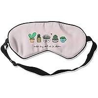 Sleep Eyes Masks Cute Cactus Pattern Sleeping Mask For Travelling, Night Noon Nap, Mediation Or Yoga preisvergleich bei billige-tabletten.eu
