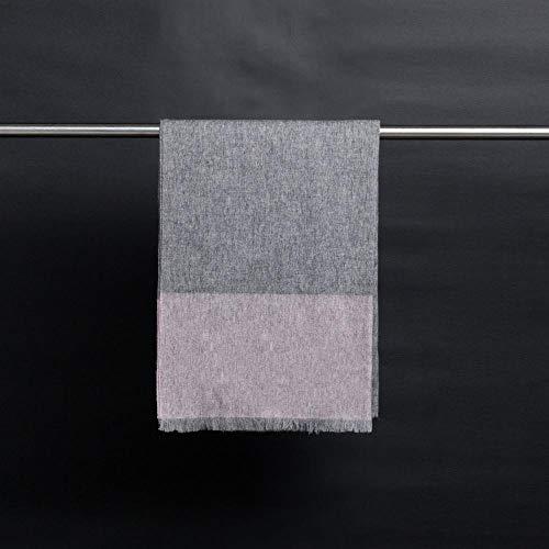 NuoEn Schal-Herbst und Winter fortgeschritten Block Farbe Mode Schal Schal Güter mit doppeltem Verwendungszweck hochwertige Schal Schal