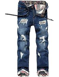 BOLAWOO Denim De Algodón Hombres Los Ocio Insignia Mode De Marca Desgastado Bridas Jeans Agujero Bordado