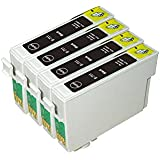 AA+inks 4x Black Compatible Ink Cartridges Replacement for Epson T0711 TO711 ET0711 suit for SX100 SX105 SX110 SX115 SX200 SX205 SX210 SX215 SX218 SX400 SX405 SX410 SX415 D120 D78 D92 DX4000 DX4050 DX4400 DX4450 DX5000 DX5050 DX6000 DX6050 DX7000 DX7400 DX7450 DX8400 DX8450 DX9400F S20 S21 SX209 SX515W SX600FW SX610FW BX300F BX310FN BX600FW printers (4X 711 Black ink)