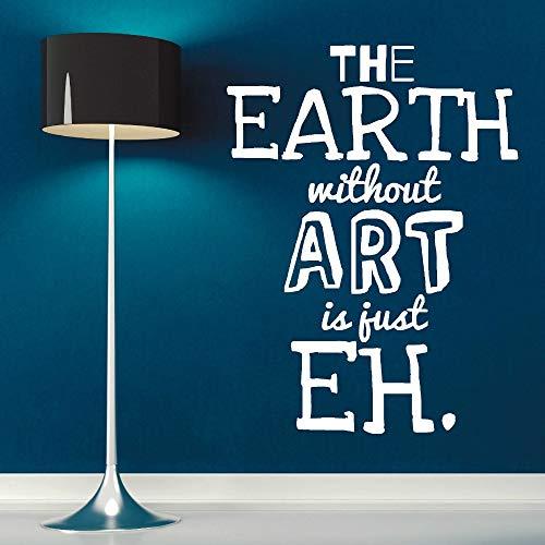 Art Design Quotes Fototapete Die Erde ohne Kunst ist nur EH Kreative Wandaufkleber Wohnzimmer Schlafzimmer Dekorative Wallpaer 43 * 57cm -