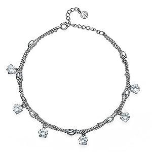 Oliver Weber Fusskette Dots Steel CZ Crystal with Crystals from Swarovski Fussschmuck für Damen
