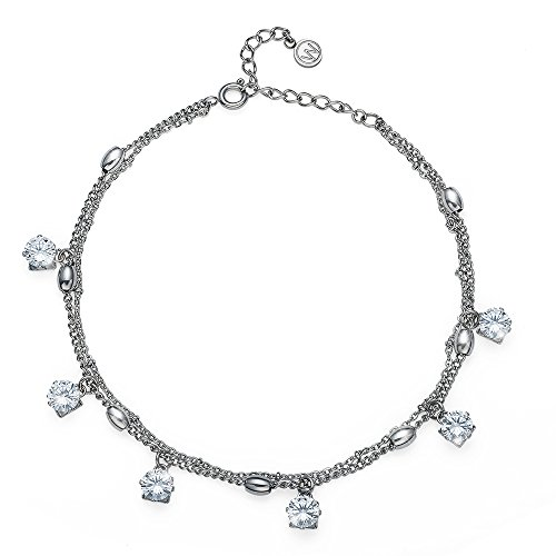 Oliver Weber Fusskette Dots Steel CZ Crystal with Crystals from Swarovski Fussschmuck für Damen